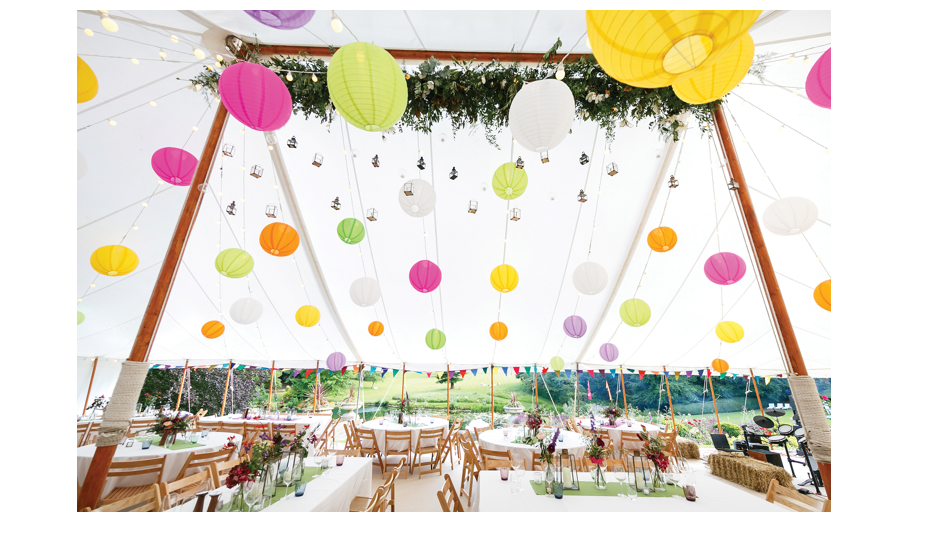 marquee and lanterns