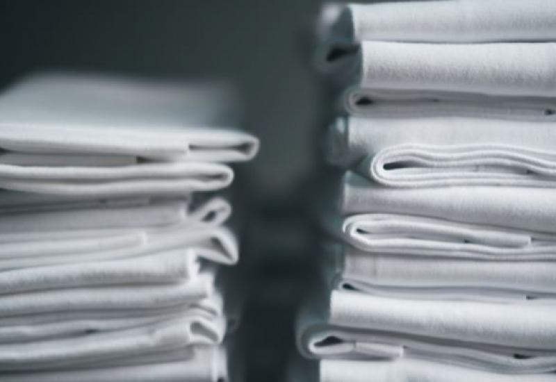 A stack of napkins