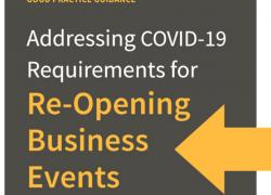 Addressing Covid-19 Requirements for Re-Opening Business Events